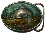 Trout Fish Belt Buckle + display stand. Code EH7